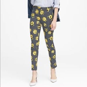 Banana republic floral Sloan skinny crop pant NEW